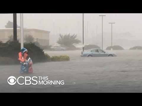 Hurricane Florence making landfall in North Carolina