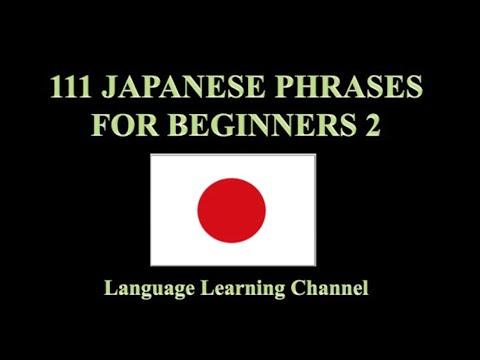 111 Japanese Phrases for Beginners 2 (видео)