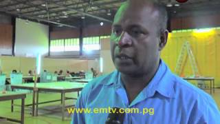 Counting for the Morobe Regional Seat resumed today. Primary counts were completed yesterday and quality checks have commenced. The absolute majority stands at 147,333 after the primary counts and elimination will be conducted after quality checks are completed. Election Manager Simon Soheke said officials will be working around the clock to complete the process and Morobe's Member elect should be declared by the end of this week.visit us at http://www.emtv.com.pg/ for the latest news...