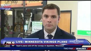 WATCH: Appleton Airport Spokesman Speaks to Media After Minnesota Vikings Plane SLIDES Off Runway