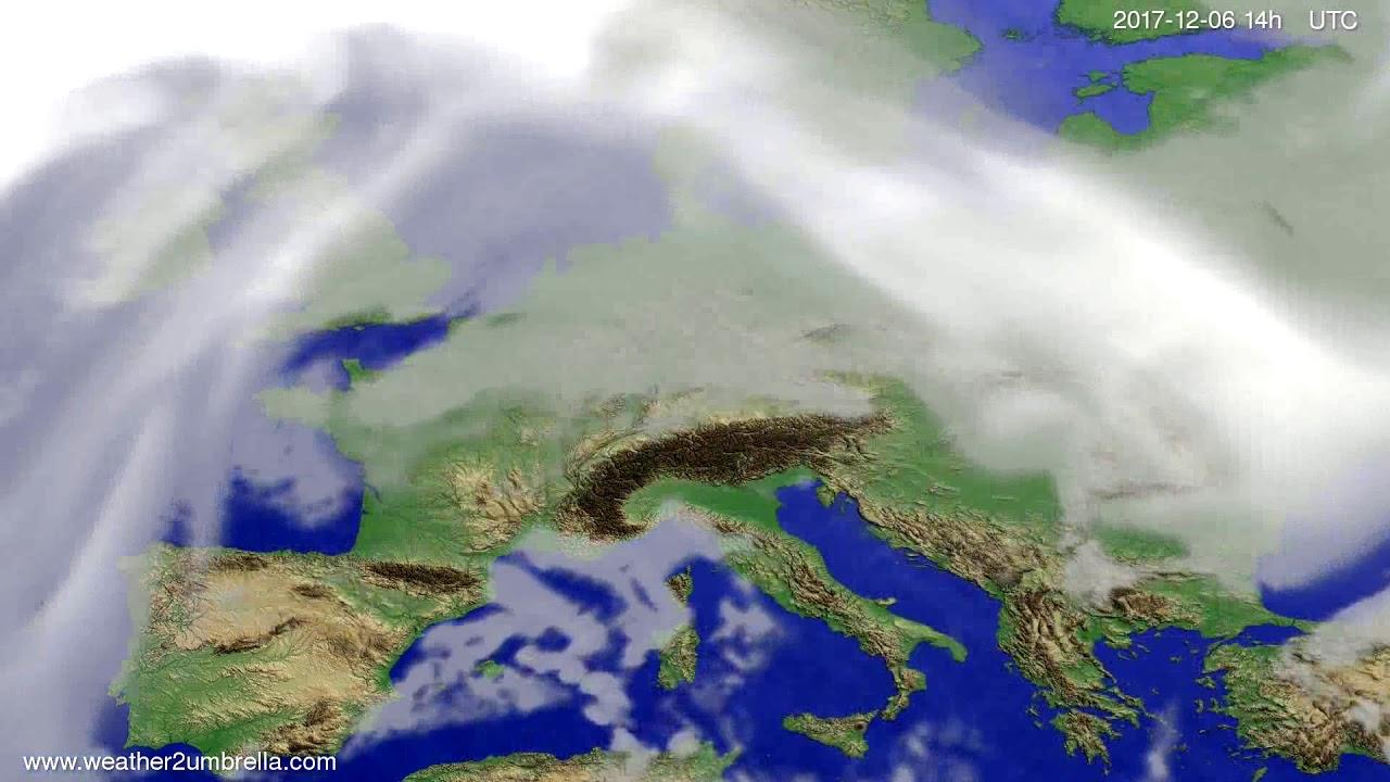 Cloud forecast Europe 2017-12-04