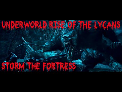 Underworld Rise of the Lycans - storm vampire fortress scene - werewolves rush the castle HD