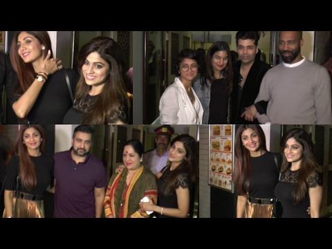 Karan Johar | Abhay Deol | Shilpa Shetty | Kiran Rao At Shamita Shetty Birthday Bash