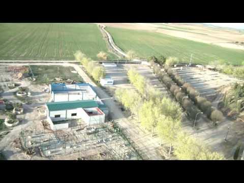 Lugar de la Romería de Lillo (Toledo) desde el aire