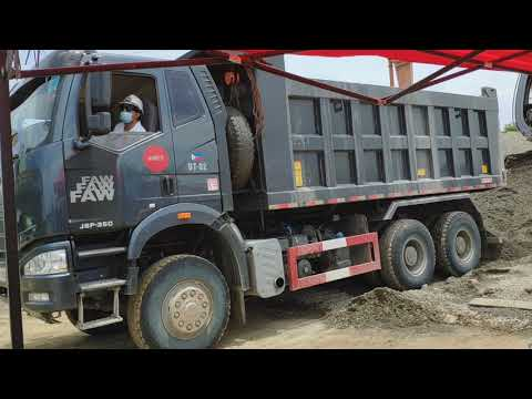 FAW J6P-350 10W Dump Truck Unable to Dump