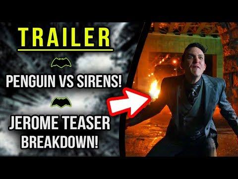 Jerome 4x11 Fall Finale Teaser! Penguin vs Sirens! - Gotham 4x10 Trailer Breakdown!