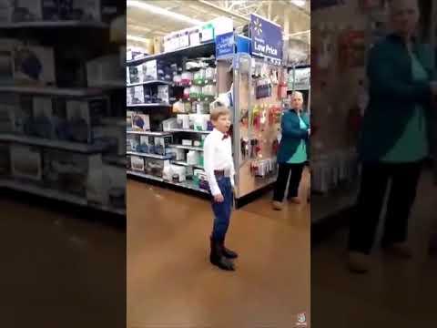 Kid yodeling in walmart for 10 hours