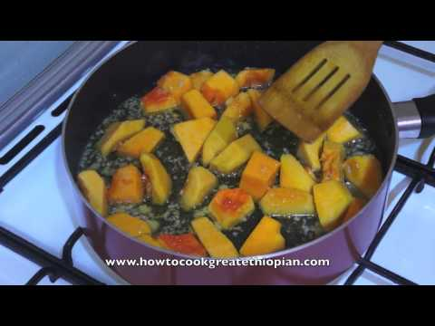 African recipes from cookingvilla great food recipes for all ethiopian recipe how to make a vegetarian stew ethiopia way with pumpkin and chickpea forumfinder Choice Image