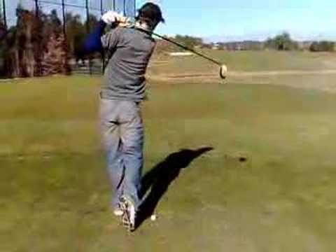 Funny golf shot