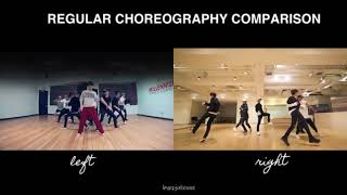Regular Choreography Comparison   NCT 127 x WayV