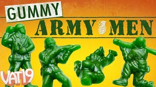 "Get a massive 5-pound bag of delicious Gummy Green Army Men. That's an order, Private!Buy here: https://www.vat19.com/item/gummy-army-guys-bulk-bag?adid=youtubeSubscribe to Vat19: http://www.youtube.com/subscription_center?add_user=vat19com****************** Follow Vat19:Facebook: https://facebook.com/vat19Instagram: https://instagram.com/vat19/Twitter: https://twitter.com/vat19SnapChat: https://www.snapchat.com/add/vat19teamShop hundreds more curiously awesome products:https://www.vat19.com/?adid=youtube******************It's hard not to play with your food when your food is shaped like an all-time classic toy. Gummy Army Men are gummy-fied versions of the children's figurines that have a sweet green apple kick in place of the original plastic flavor.These tasty troops come in a quantity big enough to feed a whole platoon. Hunker down with the five-pound bag as you lay siege to the enemy or play in your living room foxhole.Made in the USA.******************Watch More Vat19:Latest Uploads: https://www.youtube.com/user/vat19com/videos?shelf_id=1&view=0&sort=ddPopular Videos: https://www.youtube.com/user/vat19com/videos?shelf_id=7&view=0&sort=pThe Sample Room: https://www.youtube.com/watch?v=jL1JK0U6s28&list=PLSqiExuEA-RG_aF5u4q5gEvJiUfoa6l25Fun Stuff to Eat: https://www.youtube.com/watch?v=7RXmNRr8x7I&list=PLSqiExuEA-REt5gzR0A9ernZNHlZ2glIlAbout Vat19:Vat19 is dedicated to ""curiously awesome"" gifts, candy, toys, gummy, putty, puzzles, games, and more! In addition to making funny commercials you'll actually want to watch, we produce amazing challenge videos, document our outrageous contraptions, and invite you to a front row seat for our silly stunts. Sometimes we blow things up, fill up a bathtub or pool with crazy stuff, dare each other to eat super spicy foods, and answer ""burning questions"" from our viewers."