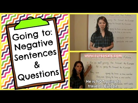 Going to - Negative Sentences and Questions