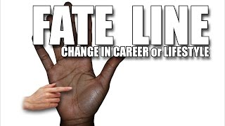 """Please watch: """"CHILDREN & MARRIAGE LINES Male Palm Reading Palmistry #146"""" https://www.youtube.com/watch?v=AOY4nZmF8wA-~-~~-~~~-~~-~-The Fate line in the right hand reveals important information relating to changes in direction in life. If the Fate line breaks and starts at a different point in the palm , this can indicate a change in career (on a timeline) in order to determine if this means a change in career, there are other markings in the hands that can be cross checked.GET A HAND/PALM READING: https://goo.gl/NzTwnESUBSCRIBE: http://goo.gl/HkaCq6WEBSITE: http://goo.gl/mE7gmILEARN TO READ PALMS: https://goo.gl/73kxLxLines, configurations and markings are explained in this new series. Revealed through Hand & Palm Readings & Analysis - Palmistry.FATELINE: Female Palm Reading PalmistryKat Anders has a Masters Degree in the Health Sciences, a Bachelors Degree in music and has preformed over 6000 hand readings for well over 35 years.Video produced by BLACK STONE ENTERTAINMENT. Copyright. All Rights Reserved"""