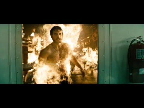 Man of Steel 2013 saving people from fire scene 1080p BluRay