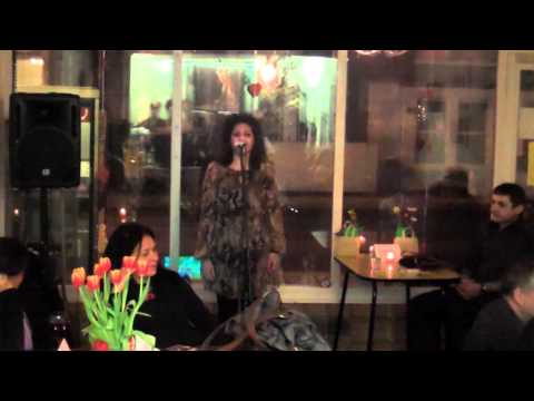 Gallery opening Lauren open mic