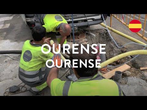 GRUPO CANALIS rehabilita las canalizaciones de la calle Vasco Díaz Tanco (Ourense)