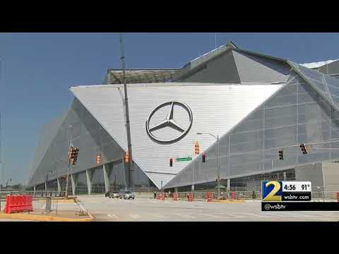 Mercedes-Benz Stadium using rain water to prevent flooding in the area