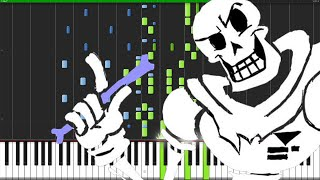 Bonetrousle - Undertale [Piano Tutorial]