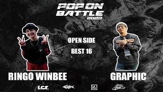 Ringo Winbee vs Graphic – POP ON BATTLE 2020 Open side Best 16