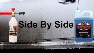 can you use a car shampoo for snow foam?can it foam? will it stick? this is the test!Snow foam is a prewash foam, sprayed onto the car to lubricate and dissolve as much dirt as possible, to help keep the infliction of swirl marks, scratches and abrasions to a minimum. after this, you can sprayed the car again with water/pressure washer, and continue washing by hand.EBAY. comNilfisk C110 : https://goo.gl/LbQuyAAutobrite Foam Lance : https://goo.gl/2WTMiJmeguiars shampoo plus : https://goo.gl/ytO3D2----------------------------------------------------------------------------------------EBAY UKNilfisk C110 : https://goo.gl/Y7cR1aAutobrite Foam Lance : https://goo.gl/4hLEUcmeguiars shampoo plus : https://goo.gl/DmpN0i----------------------------------------------------------------------------------------AMAZON U.SMeguiar's Shampoo Plus : http://amzn.to/2dxrDylNilfisk C110 : http://amzn.to/2cRD1HHother Foam Lance : http://amzn.to/2fI2W0v----------------------------------------------------------------------------------------AMAZON U.KMeguiar's Shampoo Plus : http://amzn.to/2dLedg9Nilfisk C110 : http://amzn.to/2cthFwcAutobrite foam lance : http://amzn.to/2eJNbFf----------------------------------------------------------------------------------------INDONESIAyg mau nitip beli produk dari autobrite atau ebayWhatsApp : +6281361330151----------------------------------------------------------------------------------------Snow Foam Tutorialhttps://www.youtube.com/playlist?list=PL0hmdwdvItIOP0JQZr0oLHwY-JtVfdcrcSnow Foam Shampoo Test Videohttps://www.youtube.com/playlist?list=PL0hmdwdvItIMpY1E_1574-m4msKlcRB3HCar Shampoo in snow foam lance testhttps://www.youtube.com/playlist?list=PL0hmdwdvItIMNJtwT8dHGRys_NSMjIPFpAuto Detailing Product Reviewhttps://www.youtube.com/playlist?list=PL0hmdwdvItINwDvIxPWpgYnAxj1qMSW-Q