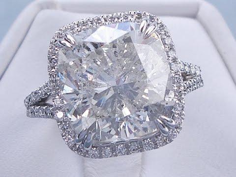 8 33 ctw Cushion Cut H-I SI2-SI3 Diamond Engagement Ring - BigDiamondsUSA