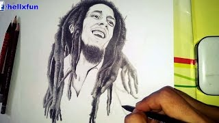 "Bob Marley Drawing - speed drawing bob marley - find this Bob Marley drawing here: http://hellxfun.blogspot.com/2016/01/bob-marley-drawing.html for more celebrities drawings visit my facebook page: https://www.facebook.com/hellxfunDrawing Bob Marley was something I wanted to do for so long now, as a big fan of him of course and also because he's the first person who inspired me to start my dreadlocks journey. It all started when I was 7-8 years old when my older brother used to listen to bob marley and the wailers and had a big poster of him. The look of his dreadlocks was fascinating to me, I didn't knew at the time what was it or what is it called or how it's done, I just wanted the same look. and also I must say from that point I really liked reggae music.back to the protrait drawing of bob marley, as I said I wanted to draw for so long but his natty dreads made me keep delaying it, because I knew it will take too long to draw, there are too many details. But this time I made up my mind, I had to do it.Used about four pencils, a lighter pencil, a darker one, a very dark pencil and a very sharp one for the small details. an eraser of course and a paper blending stick.The drawing took me about 4 days, yes 4 days and a lot of energy and focus, that's because I wanted it to be one of my bests and Also like I said, it has so many details. Started by drawing the guidelines then just like I always do, drawing eyes and eybrows, then the nose, and then the mouth (lips, teeth, mustache) the beard wasn't hard for me to draw, the clothes too even if they needed good shading and adding value. The real challenge was drawing the natty dreadlocks, and the afro frizzy hair at the top and Bob Marley's head. It didn't help that the dreads are of different shapes and sizes and also degree of darkness.. But I think I did a good job, I'm liking the outcome lol.and of course I wouldn't miss taking a video of me drawing Bob Marley, I did the mistake of not taping myself drawing Tupac and won't do it again whenever I'm drawing a celebrity or public figure. I have checked some speed drawing video of bob marley on youtube and frankly Only 2 or 3 of them were well made, so it was a good idea to add my own speed drawing video.Until now I haven't actually drawn many celebrities and famous people, of I could say that the infamous people I drew are actually more than the celebrities and famous people I drew.I hope you like this speed drawing video of bob marley, if you do I would apreciate a like and share and why not subscribe :) thank you!Robert Nesta ""Bob"" Marley, OM (6 February 1945 – 11 May 1981) was a Jamaican reggae singer, songwriter, musician, and guitarist who achieved international fame and acclaim.________________________________________­______________________________Music:""Tea Roots"" Kevin MacLeod (incompetech.com)Licensed under Creative Commons: By Attribution 3.0http://creativecommons.org/licenses/by/3.0/Direct Link: http://incompetech.com/music/royalty-free/index.html?isrc=USUAN1100472"