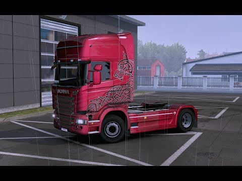 Paint Wolf Dark Transport Volvo FH16 2012 8x4 for all trucks
