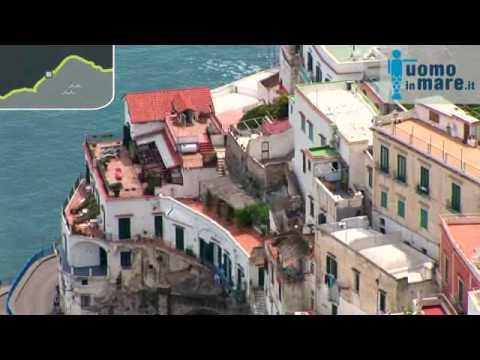Amalfi e la sua meravigliosa costa видео