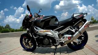 8. aprilia Tuono 1000r with dual Akrapovic  720p review and ride