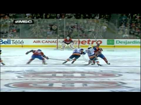 New-York Islanders @ Montreal Canadiens - Mark Streit 1-1 goal. March 17th 2012      - YouTube