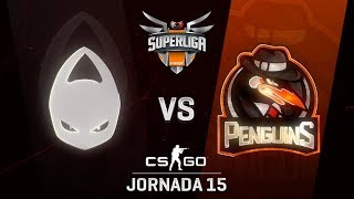 X6TENCE VS PENGUINS - MAPA 1 - SUPERLIGA ORANGE - #SUPERLIGAORANGECSGO15