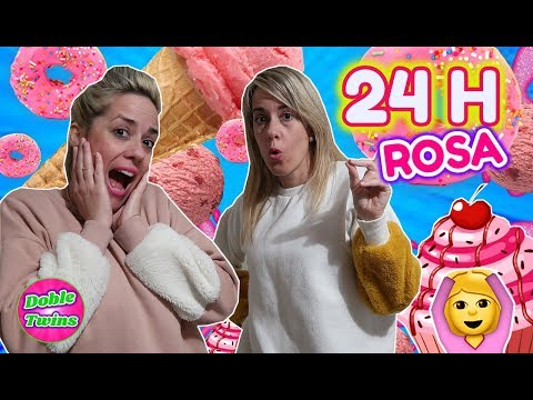 24 HORAS COMIENDO ROSA! Pasamos un día probando comida por colores