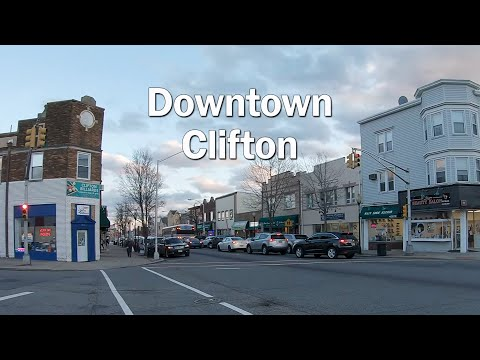 Walking Downtown Clifton NJ - Main Ave