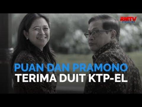 Puan dan Pramono Terima Duit KTP-El