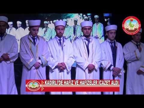 Osmaniye'de hafızlık icazet ve taç takma töreni