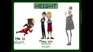 Physical Description height and weight with sound