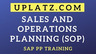 Sales and Operation Planning (SOP) | SAP PP | SAP Production Planning Tutorial Certification Course