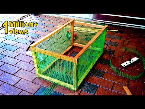Easy Way To Make Mini Chicken Cage at Home Using Wood and Iron Net   Craft Village
