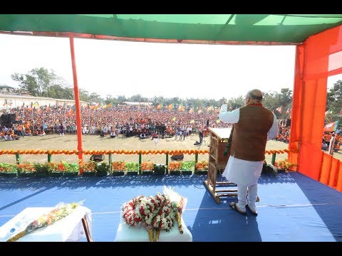 Shri Amit Shah addresses public meeting in Mohanpur, Tripura : Feb 11, 2018