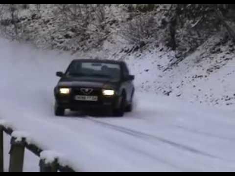 alfa 75 - spettacolo sulla neve