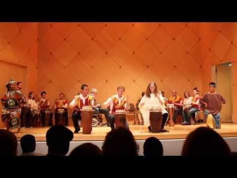 ASU African Drum Ensemble. Ndow Rabbin and Kaolack. Fall 2013