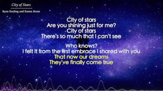 City of Stars - Ryan Gosling and Emma Stone (Lyrics) - La La Land OST