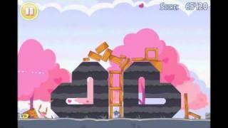 Angry Birds Seasons Hogs & Kisses 3 Star Walkthrough Level 18