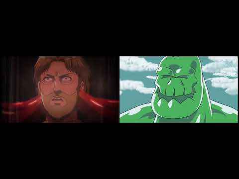 里維兵長爆砍獸之巨人 / 英雄聯盟版 比較