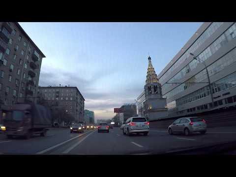 Вечерняя Москва - по центру на машине. Красота улиц и домов мегаполиса!