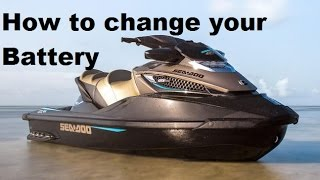 6. How to remove,replace,change your Seadoo GTX, RXT, & I.S. models  battery