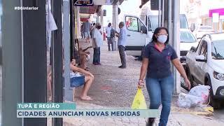 Oito cidades da região de Tupã anunciam restrições para combate à Covid-19