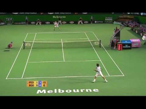 Roger Federer playing one of the best sets in tennis history