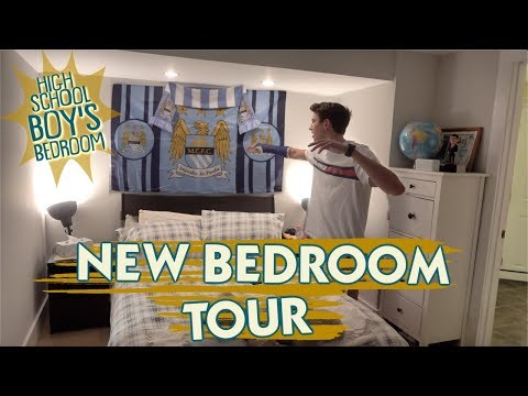 It's Brennan's NEW Bedroom TOUR! Teen Boy Takes Over Guest Bedroom + Bathroom