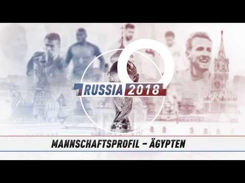 WM 2018 IN RUSSLAND: Die Mannschaft von Ägypten im  ...